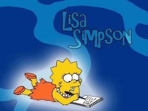 Lisa Simpson escribiendo