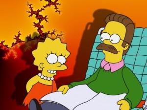 Postal: Lisa y Flanders