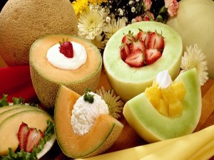Postal: Melones rellenos