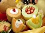Melones rellenos