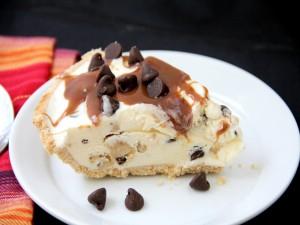 Tarta de galleta y helado