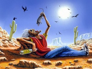 Eddie en el desierto