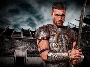 Postal: El gladiador Espartaco