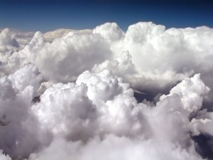 Postal: Nubes algodonosas