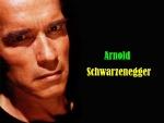 Arnold Schwarzenegger con cara de enfado