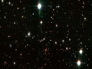 Postal: Galaxias lejanas en el firmamento