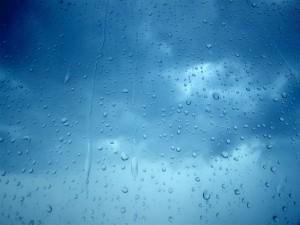 Lluvia sobre un cristal