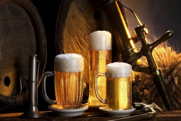 Tres frescas cervezas