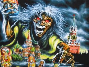 Postal: Eddie en Rusia