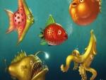 Peces con forma de frutas