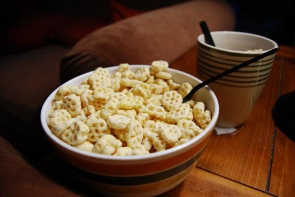 Cereales con forma de flor