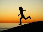 Corriendo al atardecer