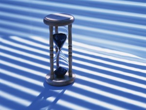 Postal: Reloj de arena