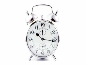 Postal: Reloj despertador