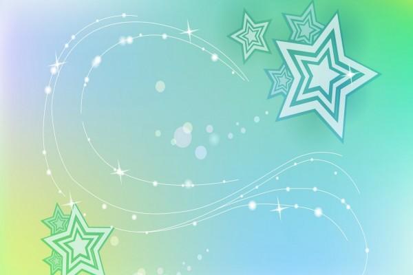 Estrellas en fondo verde