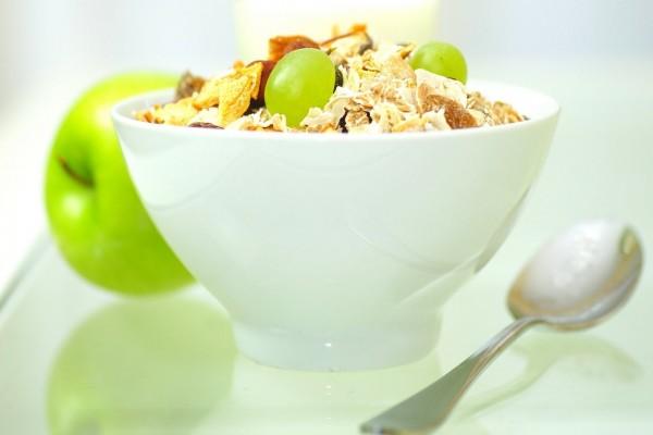 Cereales con uvas