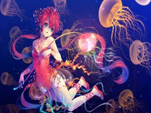 Postal: Chica-medusa