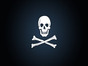 Postal: Bandera pirata