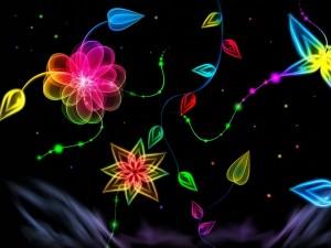 Flores de neón