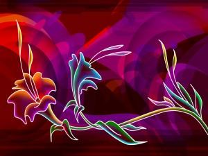Postal: Una ramita con flores