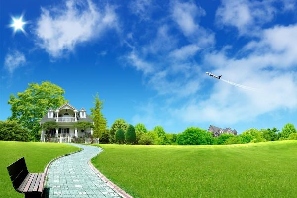 Avión sobre una zona residencial