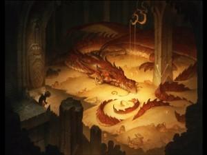 Smaug y Bilbo