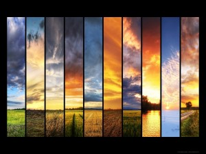 Distintos paisajes de la naturaleza