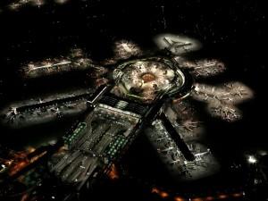 Postal: Aeropuerto internacional de San Francisco por la noche