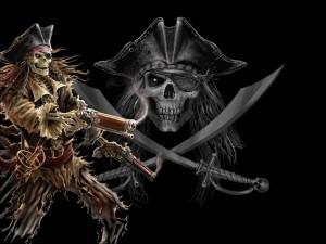 Postal: Esqueleto oscuro