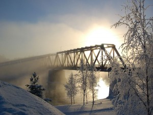 Puente ferroviario de Vaalankurkku (Finlandia)