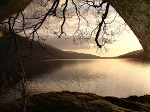Vista del Lago Lomond (Escocia)