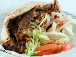 Postal: Bocadillo de kebab