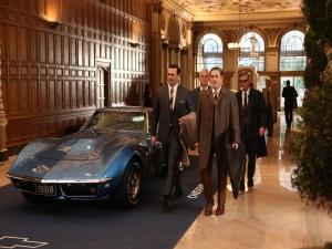 Don Draper y Roger Sterling en una reunión de negocios con Chevrolet