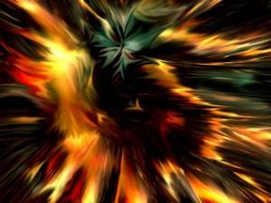 Postal: Explosión abstracta