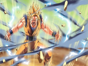 Postal: Goku enfurecido