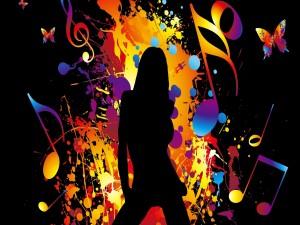Postal: Chica bailando