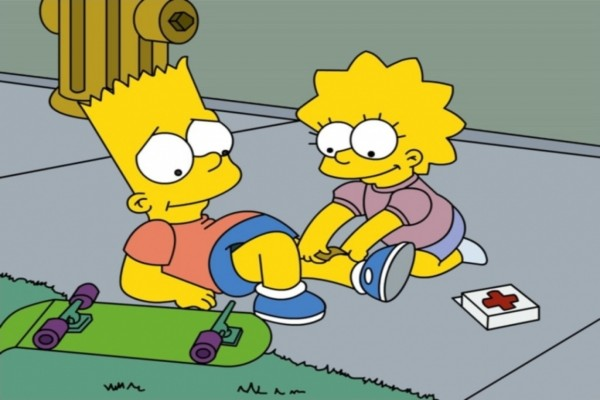 Lisa curando a Bart