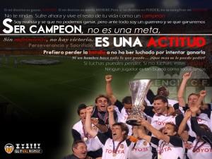 Postal: Ser campeón, no es una meta, es una actitud... Valencia CF