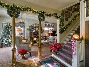 Postal: Salón navideño