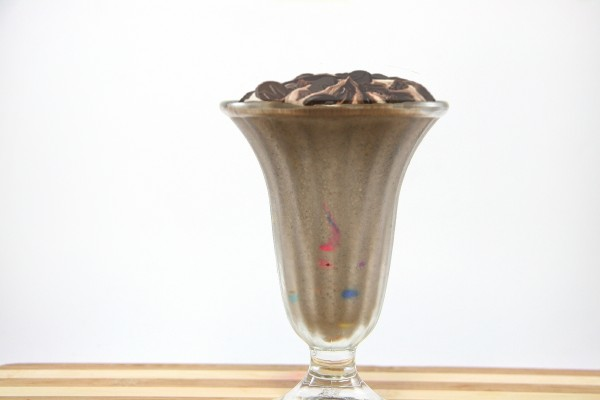 Copa de batido de chocolate