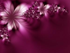 Flores púrpuras abstractas