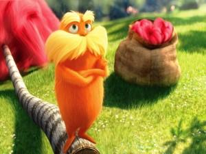 El Lorax, una pequeña criatura de color naranja