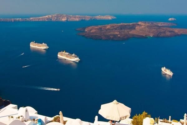 Barcos en el Mar Egeo