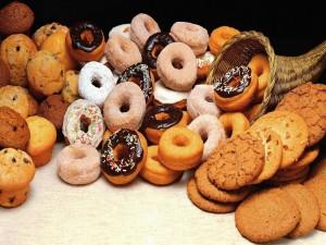 Postal: Muffins, galletas y rosquillas