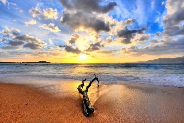 Atardecer en la playa