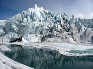 Postal: Boca del glaciar de Matanuska en Alaska