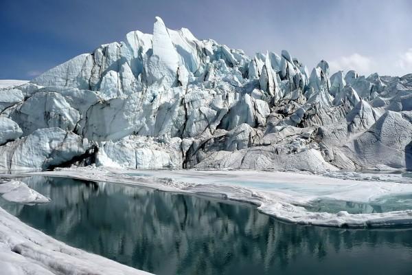 Boca del glaciar de Matanuska en Alaska