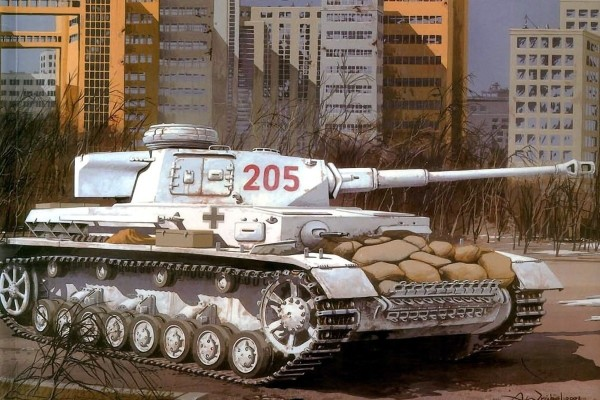 Panzer en blanco