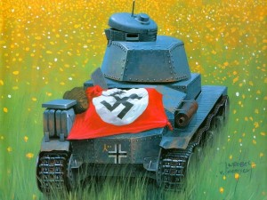 Postal: Panzer de 1940