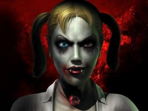 Postal: Chica vampira